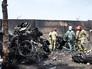 Обломки разбившегося в Иране самолета
