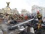 Во время тушения пожара на площади Независимости в Киеве