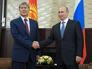 Президент Киргизии Алмазбек Атамбаев и президент России Владимир Путин во время встречи