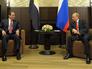 Президент Египта Абдель Фаттах ас-Сиси и президент России Владимир Путин во время встречи
