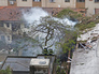Последствия падения самолета на жилой квартал в Бразилии