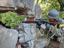 """Бойцы Украинского подразделения """"Донбас"""" на блокпосту"""