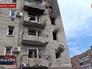 Последствия артобстрела жилых кварталов в Донецкой области