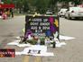Место смерти темнокожего подростка застреленного полицией Фергюсона в США