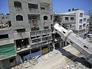 Последствия бомбардировки в Секторе Газа