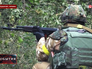 Бойцы Нацгвардии Украины ведут бой в Донецкой области