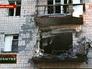 Последствия артобстрела по городским кварталам Луганска