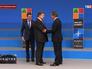 Андерс Фог Расмуссен, Петр Порошенко и Дэвид Кэмерон на саммите НАТО
