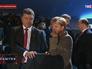 Президент Украины Петр Порошенко и канцлер Германии Ангела Меркель на саммите НАТО в Великобритании