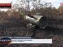 Разбитая ракетная установка украинской армии в Луганской области