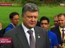 Пётр Порошенко на пресс-конференции в Великобритании