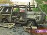 Сгоревший микроавтобус