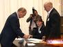 Владимир Путин во время голосования на выборах в Мосгордуму