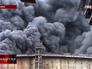 Последствия обстрела промзоны на юго-востоке Украины