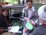 Раздача гуманитарной помощи жителям Донецка