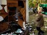 Последствия артобстрела жилых районов Донецка