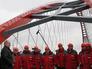 Президент РФ Владимир Путин на церемонии открытия нового моста через Обь в Новосибирске