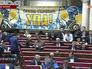 Плакаты УПА на заседании Верховной Рады