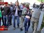 Задержание радикалов во время беспорядков у здания Верховной Рады
