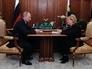 Президент РФ В.Путин на встрече с министром здравоохранения РФ В.Скворцовой