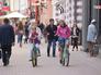 Велосипедисты едут по Арбату
