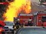 Пожарные Германии на месте взрыва газопровода