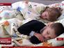 Украинские дети спят в одежде