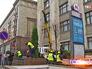 На Тверской улице высаживают туи