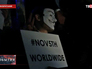 """Акция """"Марша миллионов масок"""" в Великобритании"""