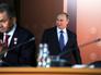 Владимир Путин и Сергей Шойгу на съезде Русского географического общества