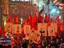 Коммунисты провели шествие в честь годовщины Октябрьской революции