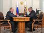 Президент России Владимир Путин встретился с Министром внутренних дел Владимиром Колокольцевым