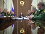 Владимир Путин во время совещания с военачальниками
