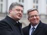 Президент Украины Петр Порошенко и президент Польши Бронислав Коморовский