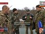 Народные ополченцы и украинские военные в Донецкой области