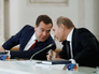 Президент РФ Владимир Путин и председатель правительства РФ Дмитрий Медведев