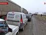 Автомобильная очередь на российско-украинской границу в Крыму
