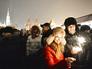 Люди отмечают Новый год на Красной площади