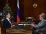 Председатель правительства России Дмитрий Медведев и министр здравоохранения РФ Вероника Скворцова во время встречи