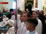Верующие во время Рождественского богослужения на Украине