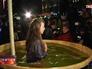 Купания в купели на Крещение