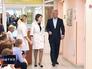 Мэр Москвы Сергей Собянин во время посещения детской поликлиники