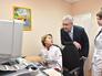 Мэр Москвы Сергей Собянин во время осмотра детской поликлиники №131