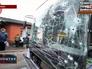 Последствия обстрела троллейбуса в Донецке