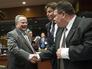 Министр иностранных дел Греции Никос Котзиас на саммите совета ЕС