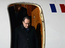 "Президент Франции Франсуа Олланд во время встречи в аэропорту ""Внуково-2"""