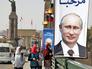 Улицы Каира к приезду президента России Владимира Путина