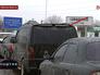 Очередь из автомобилей беженцев на российско-украинской границе