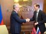 Мэр Москвы Сергей Собянин и министр промышленности торговли Российской Федерации Денис Мантуров