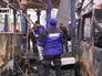 Представители ОБСЕ на месте обстрела автостанции в Донецке
